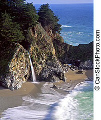 McWayFalls1 - McWay Falls in Julia Pfeiffer Burns State...