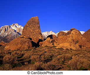 MtWhitney and AlabamaHil - Mt Whitney and the Alabama Hills...