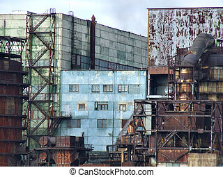 Obsolete factory buildings - Communism relic - old, obsolete...