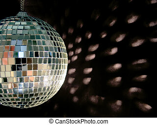 disco ball reflections - shiny disco ball on back backgound