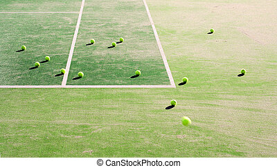 Tennis moments...... - Abstract image of tennis court and...