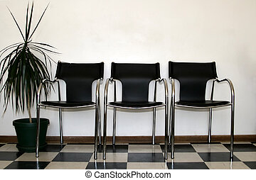Chairs waiting room - Chairs in a hospital waiting room