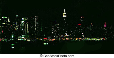 NYC SKYLINE 44 - New York City - view from accross the river...