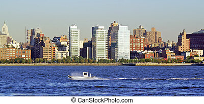 NYC SKYLINE 50 - New York City - view from across the river