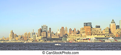 NYC SKYLINE 51 - New York City - view from the river or bay