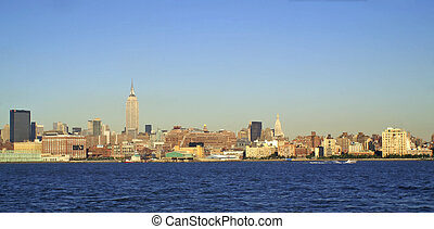 NYC SKYLINE 52 - New York City - view from across the river