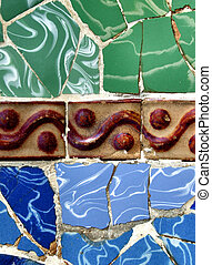 Retro tiles colorful mosaic background - Interesting mosaic...