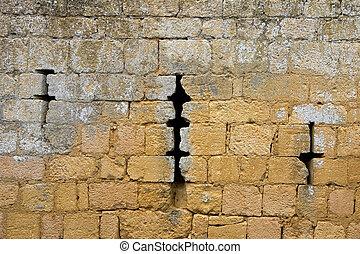 Chateau de Commarque, France - Loopholes in Chateau de...