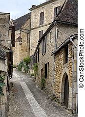 Beynac, France - Street in Beynac, Dordogne (Perigord),...