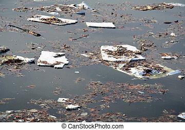 água, poluição