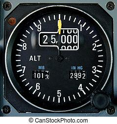 avión, altímetro