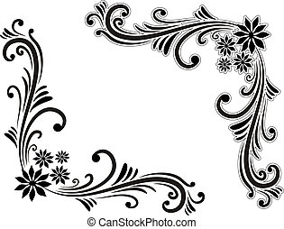 Corner decoration - Hand drawn decorative corner elements