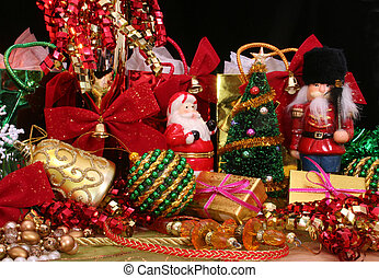 Christmas Display - Christmas Ornaments and Gifts with...