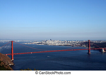 Golden Gate Bridge - View of the Golden Gate Bridge, San...
