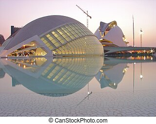 Valencia night 2 - Valencia Science and Arts museum...