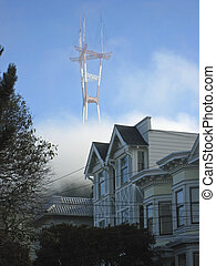 Mount Sutro Tower - Mount Sutro tower in San Francisco, CA,...