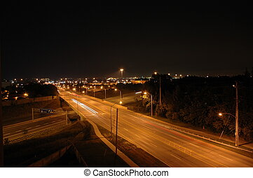 Night Shot - Brant Street Burlington