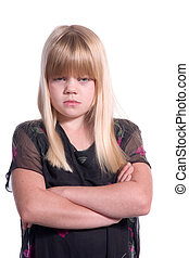 Disappointed young girl - Young blonde girl mad disappointed...