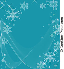 Icy Cold Snowflakes - Beautiful crystal snowflakes and...