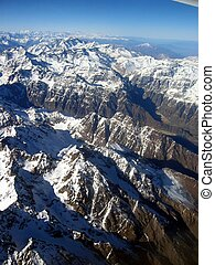 Chile, Andies - Andies, view from a plane
