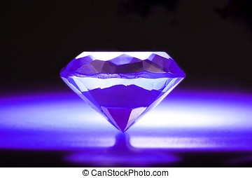 Purple Diamond - A diamond in purple background with nimbus