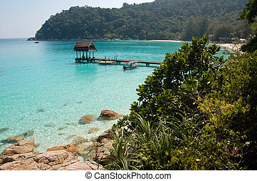 beach sea paradise - Fantastic blue sea - Perhentian island...