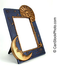 picture frame - sun and moon - a 34 view of a sun and moon...