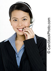 Customer Service - A pretty young chinese customer service...