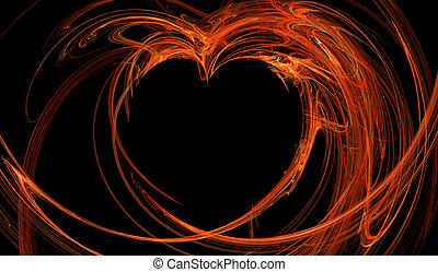 Fractal abstract - hot heart