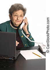 senior office executive - happy senior citizen office...