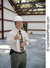 Construction Inspector - Thumbs Up - A satisfied...