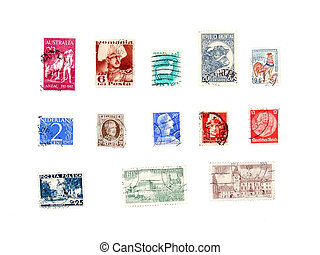 International post stamps collection - Postage stamps from...