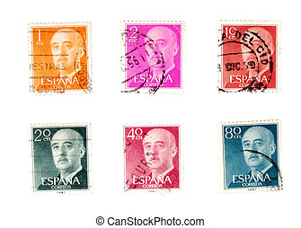 Old postage stamps from Spain - Vintage postage stamps...
