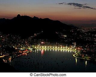 Sunset in Rio de Janeiro - 2 - Corcovado Mountain (with the...