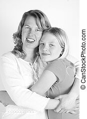 mommy and I - A beautiful mother and her teen daughter