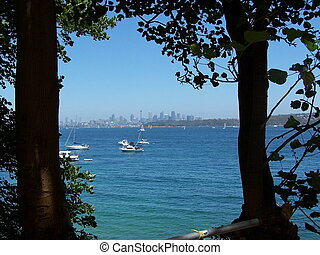 Distant Sydney - View of Sydney through the trees from...