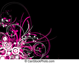 Floral chos - Chaotic floral abstract background