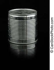 food tin can on black - food tin can on deep black...