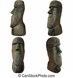 Easter Island Head - 3D Render