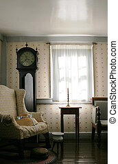 Living room in a historical home - Room in an old-fashioned...