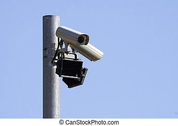 Monitoring camera 3 - Monitoring camera at a metal post...