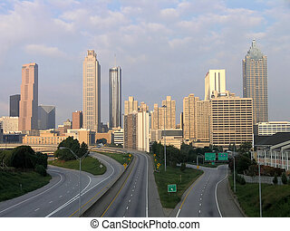 Atlanta Skyline Morning - Downtown Atlanta Georgia Skyline...