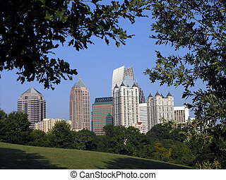 Midtown Atlanta framed - Midtown Atlanta Georgia framed in...