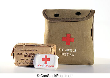Jungle first aid kit - WWII era army issued jungle first-aid...
