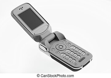 mobile phone - opened mobile phone on white sheet