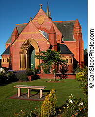Church and gardens - Old Church and gardens in Launceston,...