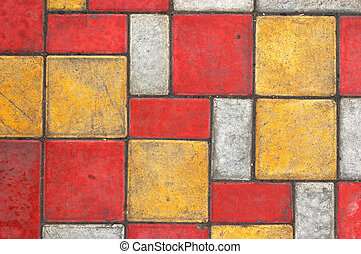 Colored paving slab texture #3