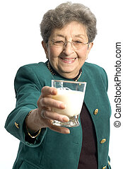 woman with milk - ooh a nice glass of milk for a pretty...