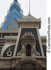 Old and New Philadelphia Architecture - Contrasting...