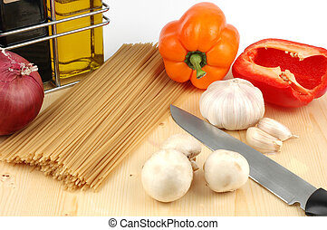 Italian Cooking - Ingredients required to create a...
